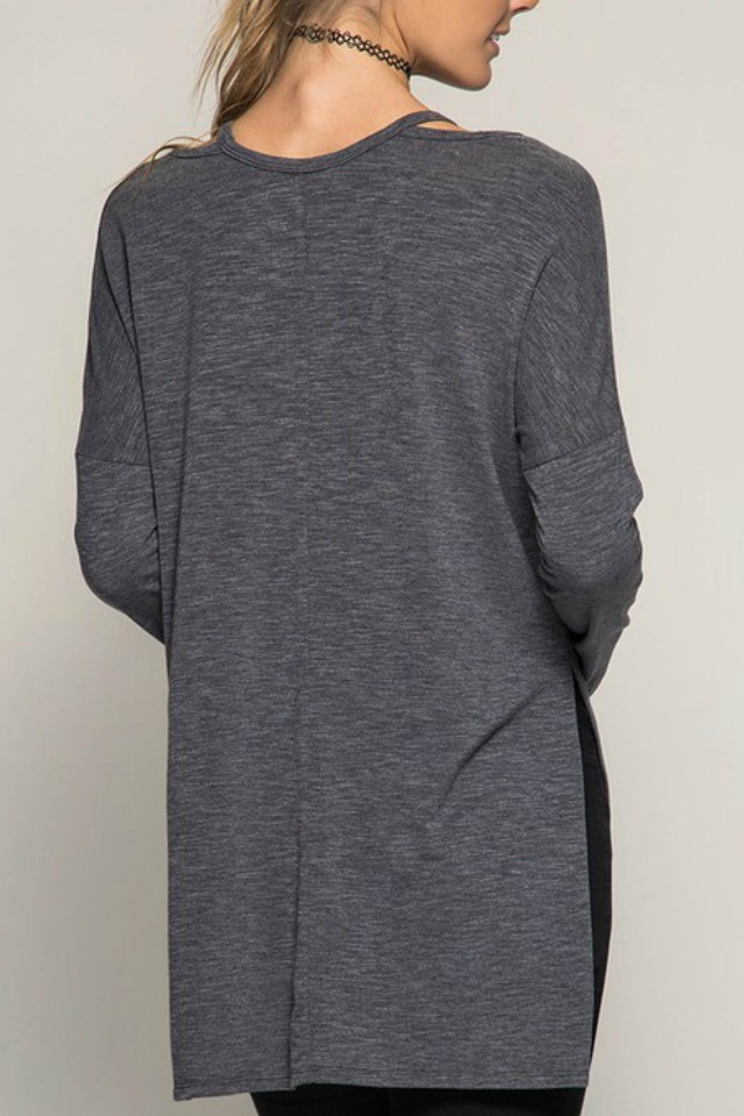 She + Sky Long-Sleeve Tunic Top - Front Full Image