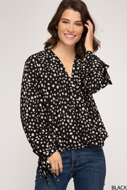 She + Sky Long Sleeve With Sleeve Ties - Product Mini Image