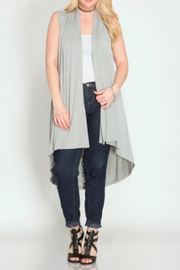 She + Sky Long-With Lace Cardigan - Product Mini Image