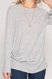 She + Sky Longsleeve Knit Top - Front cropped