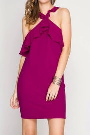 She + Sky Magenta Dress - Front cropped