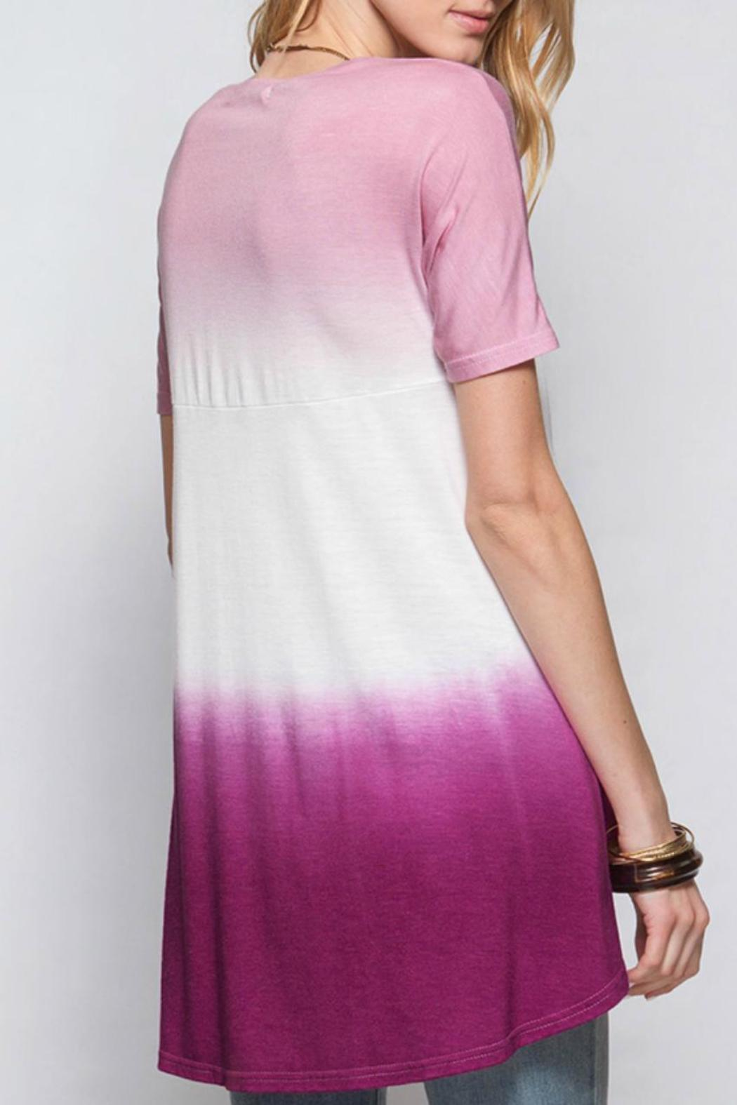 She + Sky Magenta Dip Dye - Front Cropped Image