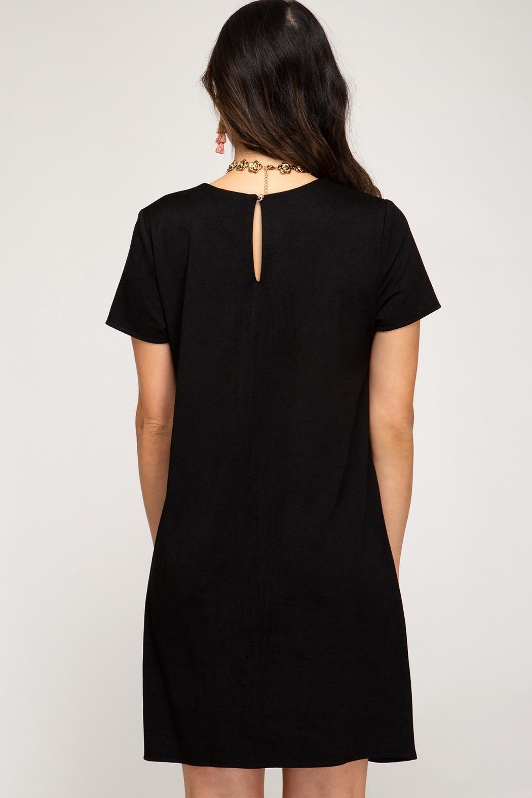 She + Sky Maple Dress Black - Front Full Image
