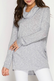 She + Sky Marled Knit Top - Product Mini Image