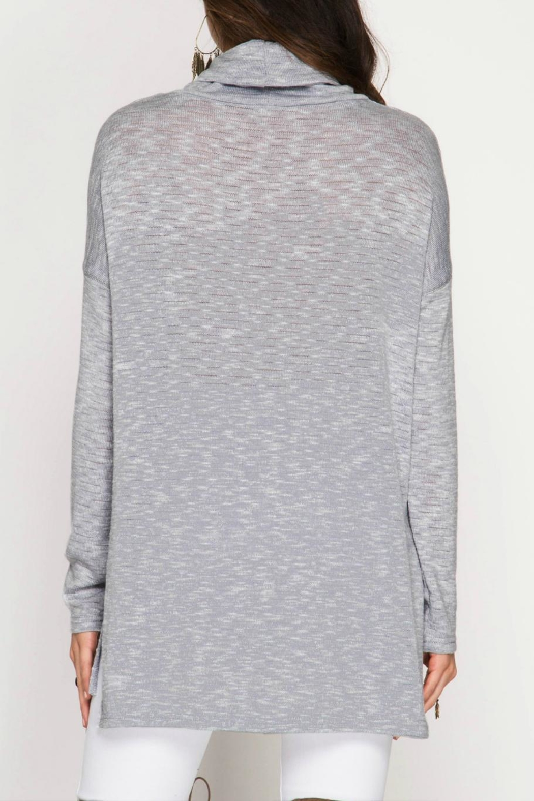 She + Sky Marled Knit Top - Front Full Image