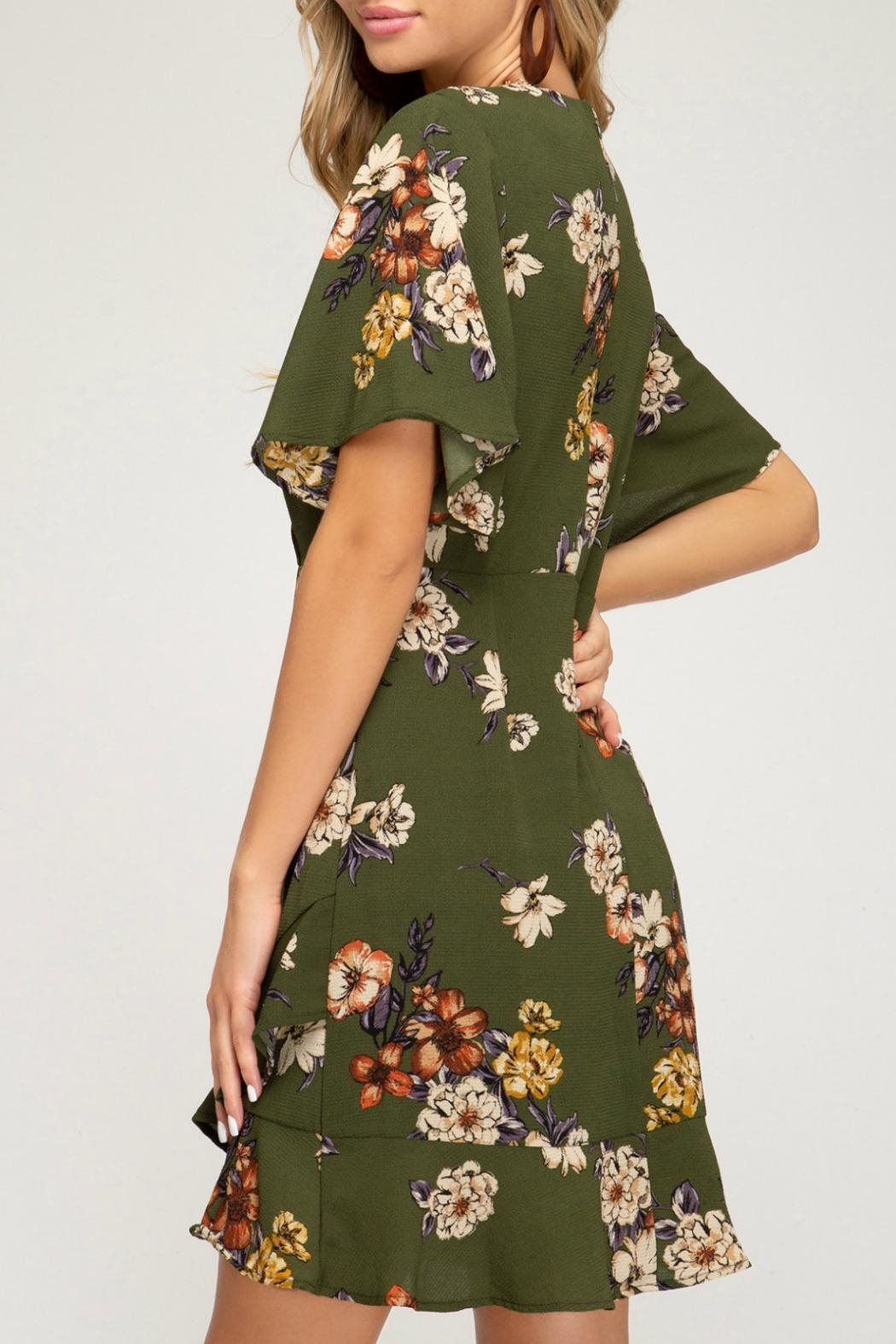 She + Sky Marnie Floral Dress - Front Full Image