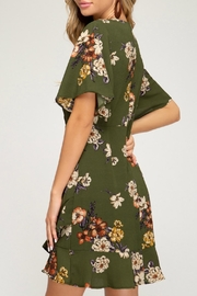 She + Sky Marnie Floral Dress - Front full body