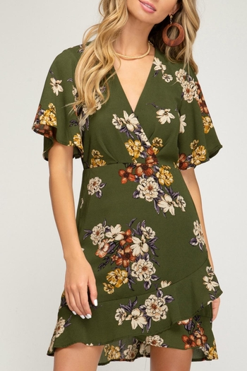 She + Sky Marley Floral Dress from Connecticut by Deja Vu — Shoptiques