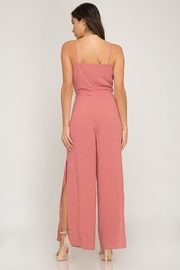 She + Sky Mauve Jumpsuit - Front full body
