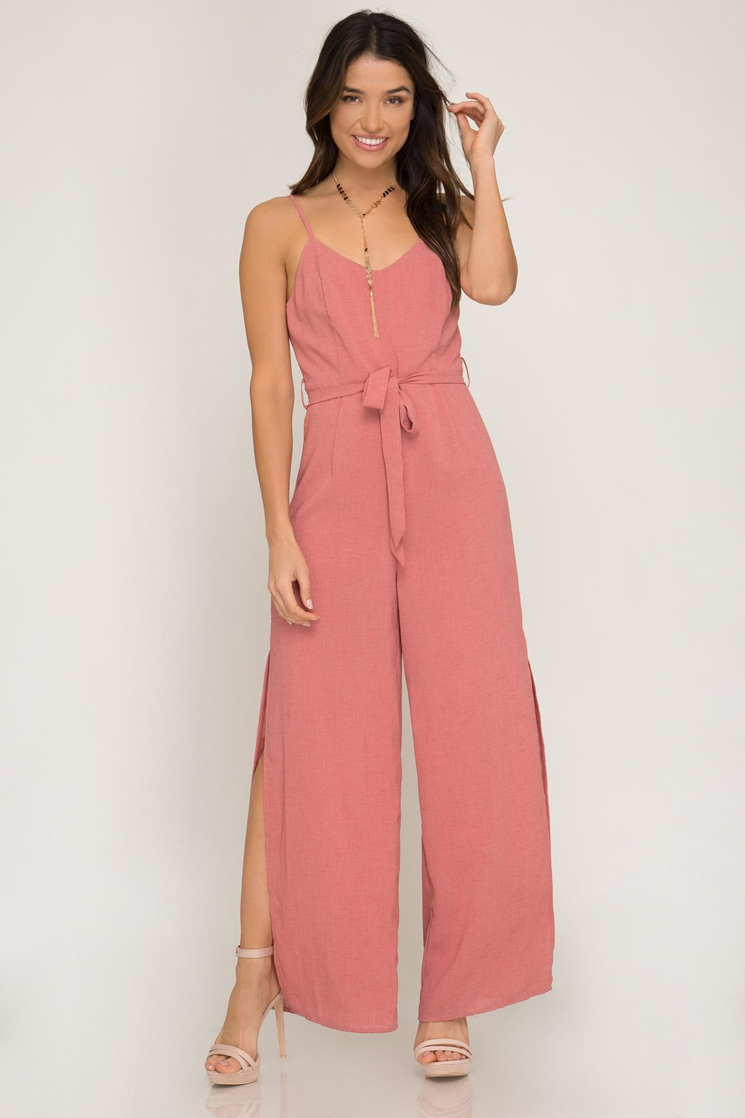 She + Sky Mauve Jumpsuit - Main Image