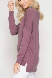 She + Sky Mauve Sweater Tunic - Front full body