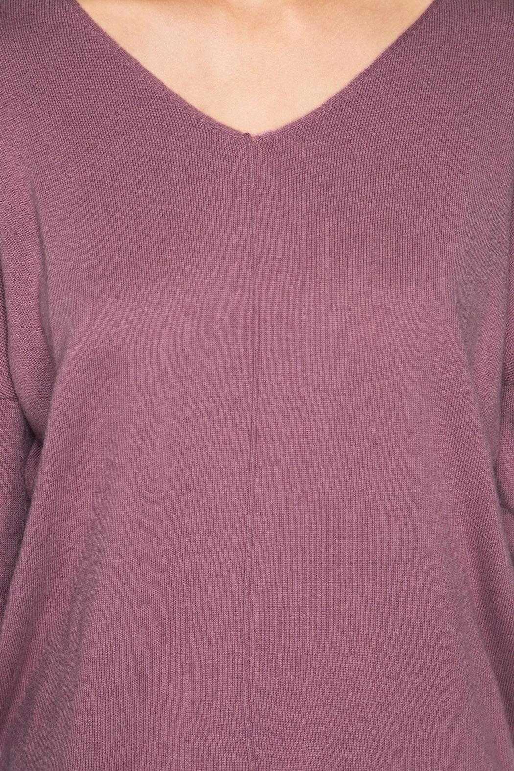She + Sky Mauve Sweater Tunic - Side Cropped Image