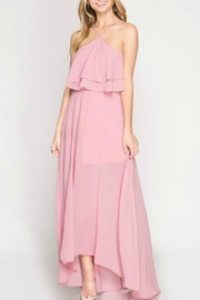 She + Sky Maxi Halter Dress - Product Mini Image