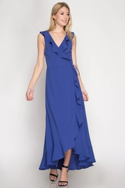 She + Sky Maxi Wrap Dress - Front cropped