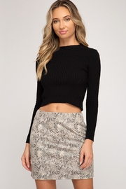 She + Sky Meadow Skirt Stone - Front cropped