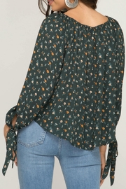 She + Sky Melody Floral Top - Back cropped