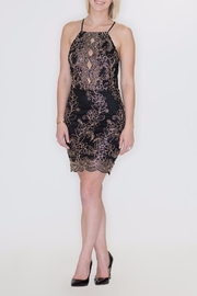 She + Sky Metallic Embroidery Dress - Product Mini Image