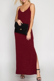 She + Sky Metallic Maxi Dress - Product Mini Image