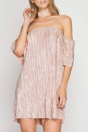 She + Sky Micro Pleated Dress - Product Mini Image