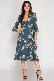 She + Sky Midi Wrap Dress - Product Mini Image