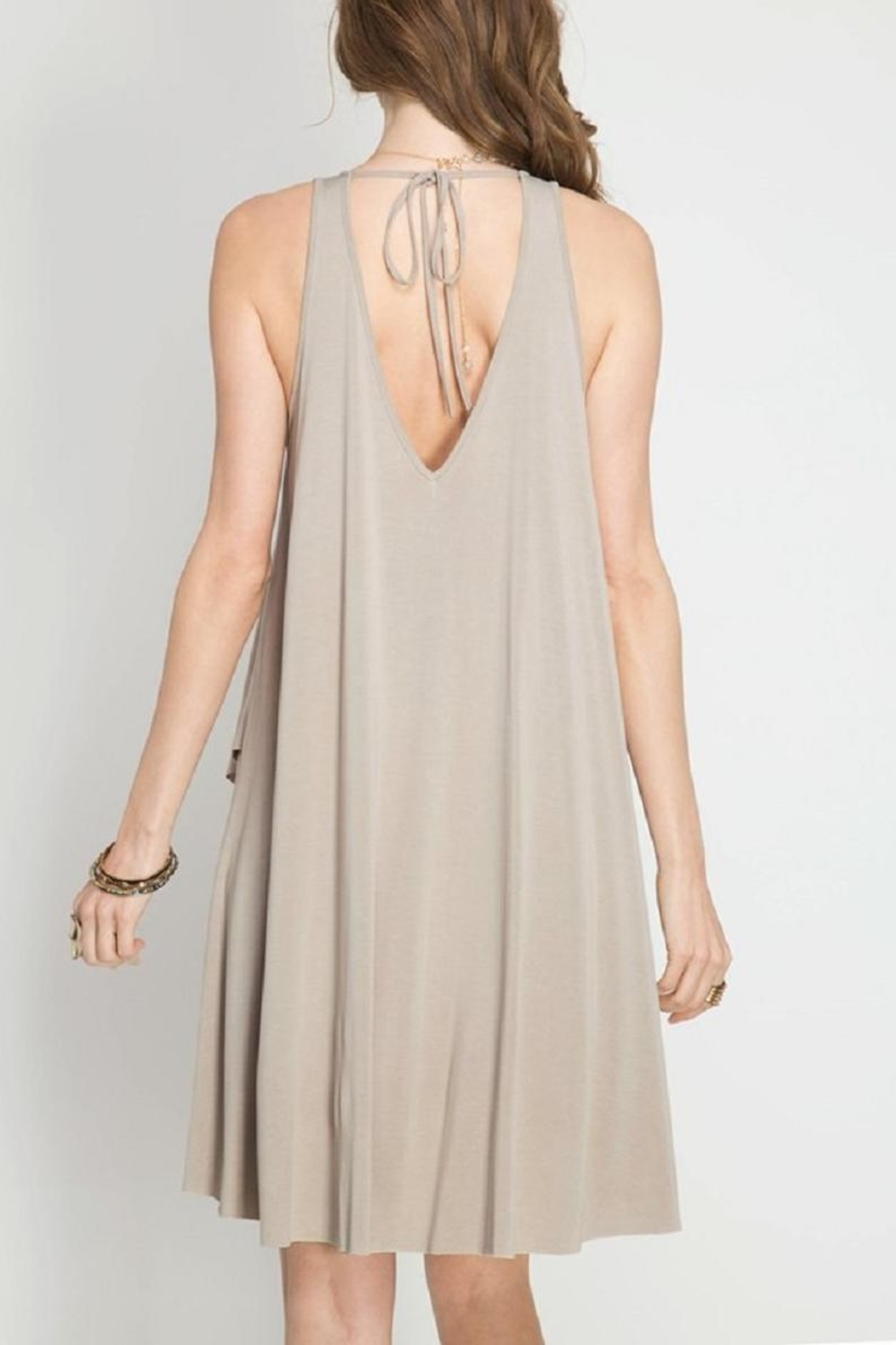 She + Sky Misty Taupe Swing - Front Full Image