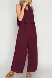 She + Sky Mock Neck Jumpsuit - Product Mini Image