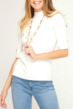 She + Sky Mock-Neck Sweater Top - Product List Image