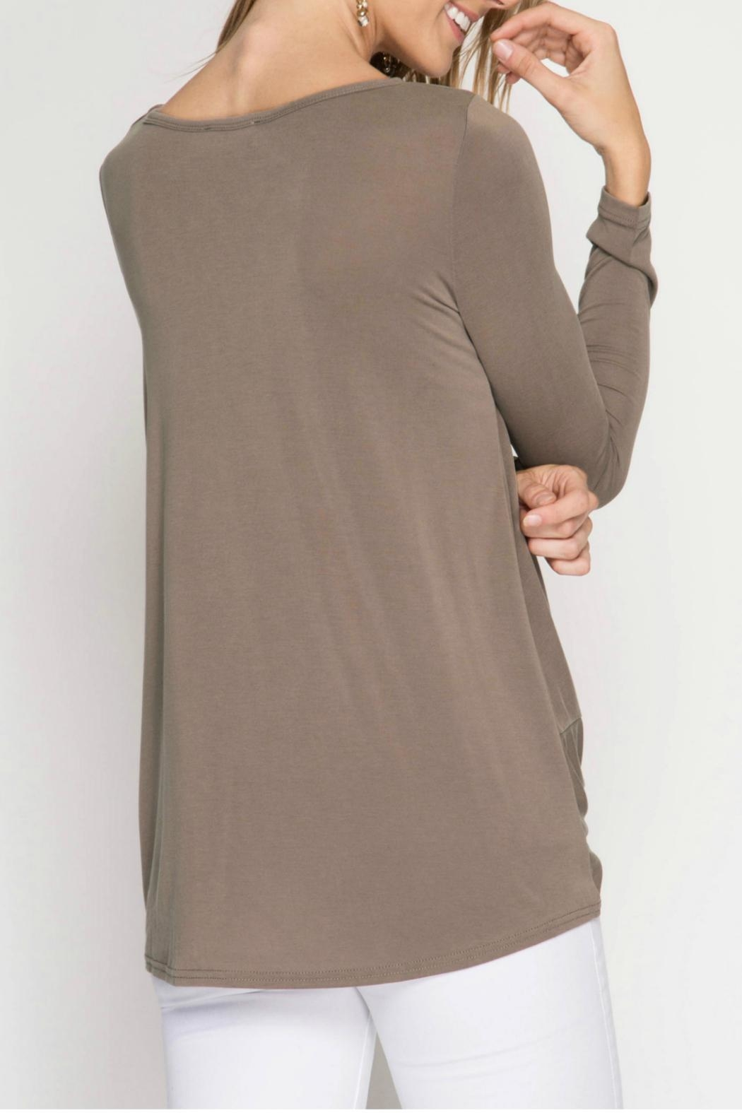 She + Sky Modal Cupro Top - Front Full Image