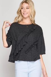 She + Sky Multi Ruffle Top - Front cropped