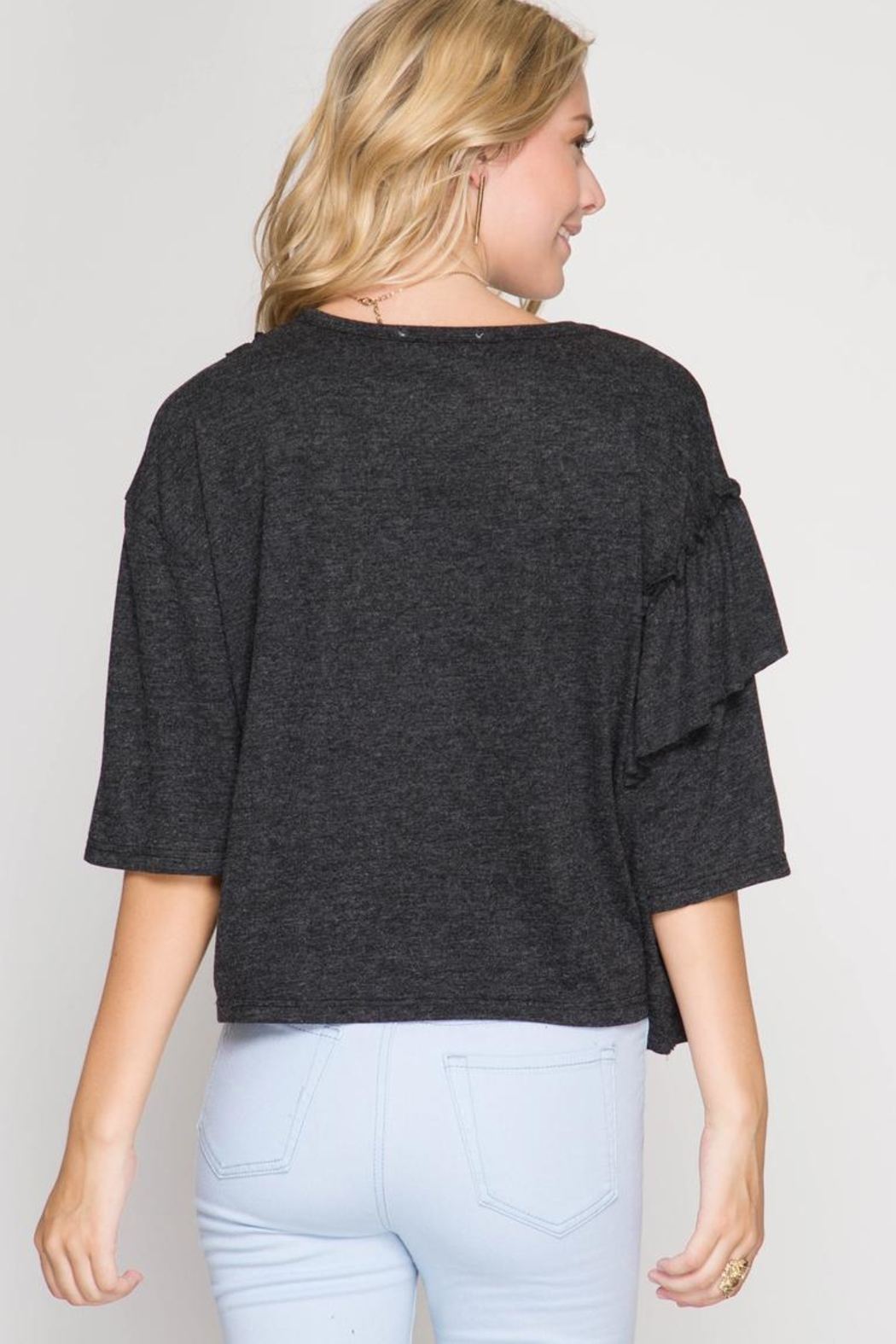 She + Sky Multi Ruffle Top - Front Full Image
