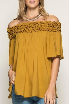 Shoptiques Product: Mustard Off Shoulder