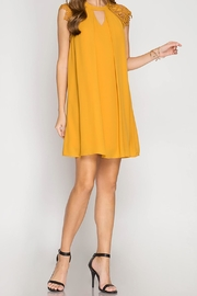 She + Sky Mustard Swing Dress - Product Mini Image