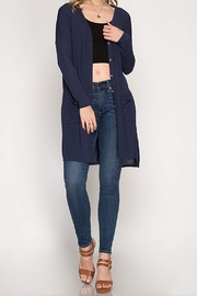 She + Sky Navy Cardigan - Product Mini Image