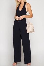 She + Sky Navy Halter Jumpsuit - Product Mini Image