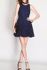 She + Sky Navy Lace Dress - Product Mini Image