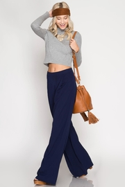 She + Sky Navy Palazzo Pants - Side cropped