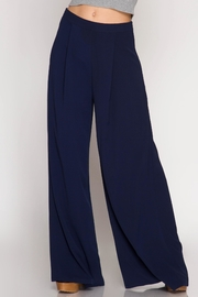 She + Sky Navy Palazzo Pants - Front cropped