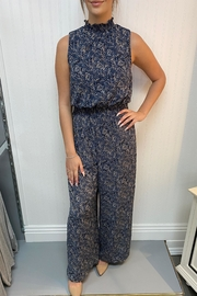 She + Sky Navy Patterned Jumpsuit - Product Mini Image
