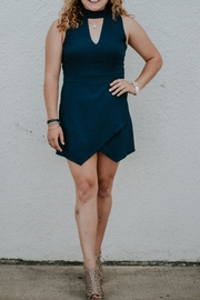 She + Sky Navy Romper - Front cropped