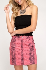 She + Sky Neon Snakeskin Skirt - Product Mini Image