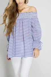 She + Sky Off Shoulder Blouse - Product Mini Image