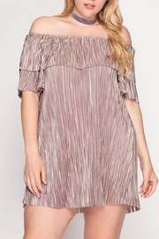 She + Sky Off-Shoulder Tunic Dress - Front cropped