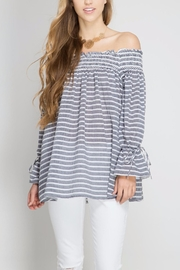 She + Sky Off The Shoulder Blouse - Product Mini Image