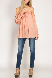 She + Sky Off-The-Shoulder Blouse - Product Mini Image