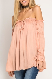 She + Sky Off-The-Shoulder Blouse - Front full body