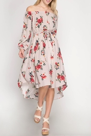 She + Sky Off-The-Shoulder Floral Dress - Product Mini Image