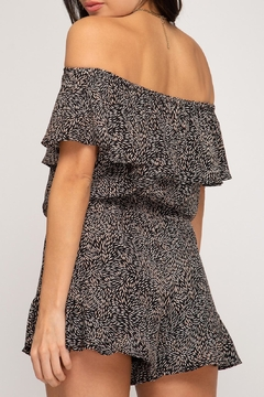 She + Sky Off-The-Shoulder Printed Romper - Product List Image