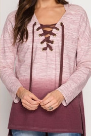 She + Sky Ombré Hoodie Top - Product Mini Image