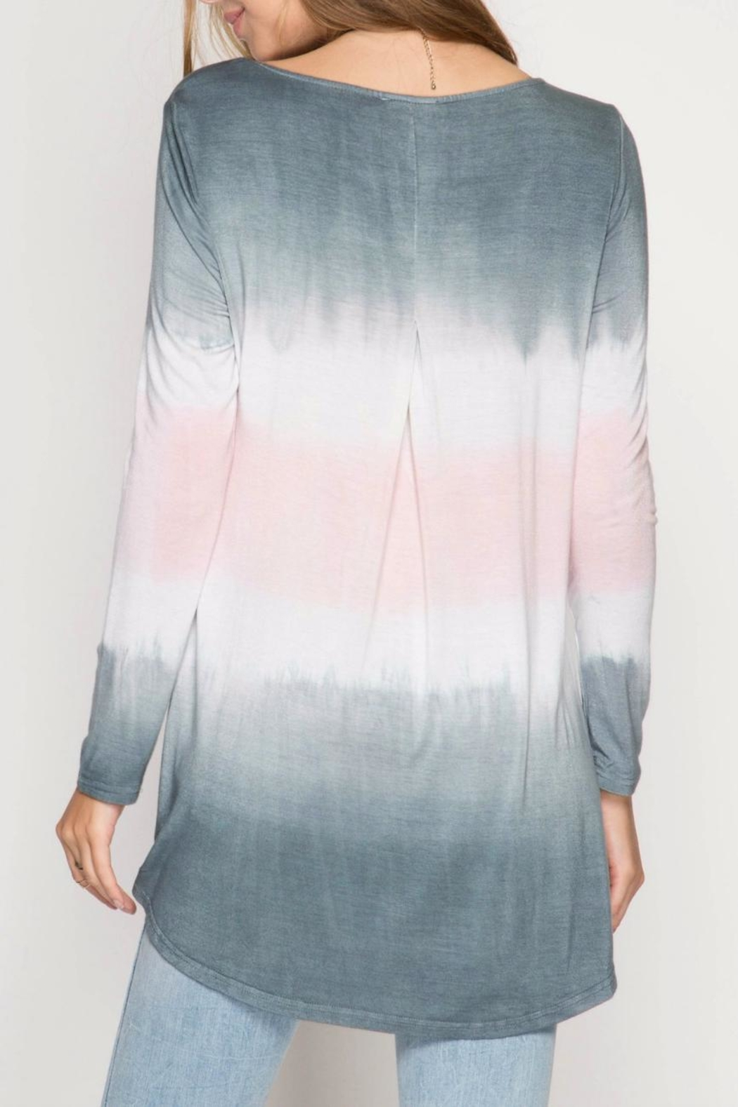 She + Sky Ombre Crossover Tunic - Front Full Image