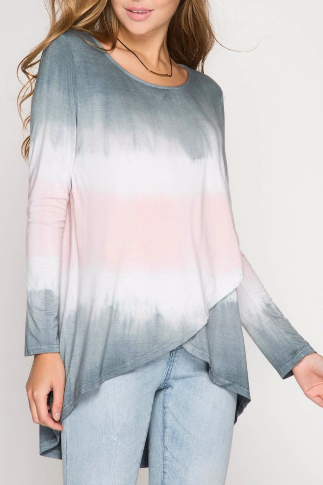 She + Sky Ombre Crossover Tunic - Main Image